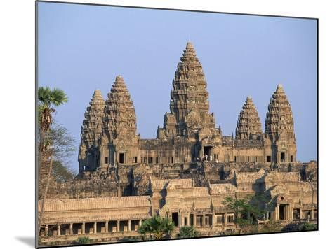 Central Towers of Angkor Wat, Cambodia-Kevin R^ Morris-Mounted Photographic Print