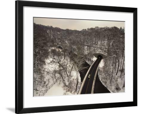 Highway Crossing a Creek-Richard Nowitz-Framed Art Print