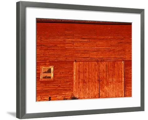 Detail of a Red Barn-Stuart Westmorland-Framed Art Print