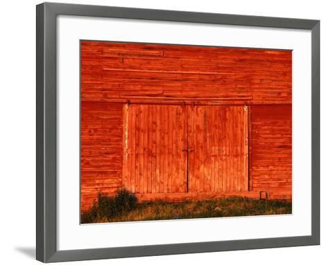 Detail of a Red Barn-Stuart Westmorland-Framed Art Print