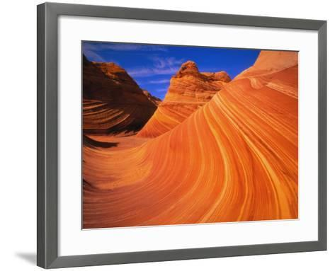 Coyote Butte's Sandstone Stripes-Joseph Sohm-Framed Art Print