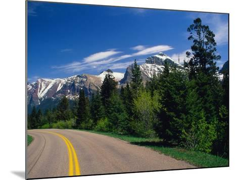 Road Through Glacier National Park-Mick Roessler-Mounted Photographic Print