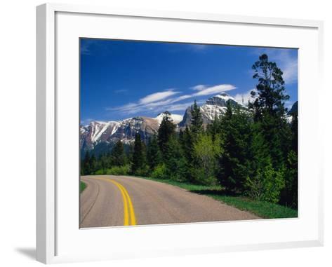 Road Through Glacier National Park-Mick Roessler-Framed Art Print