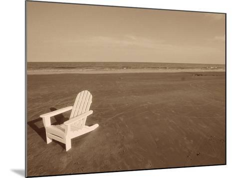 Lone Chair on Empty Beach--Mounted Photographic Print
