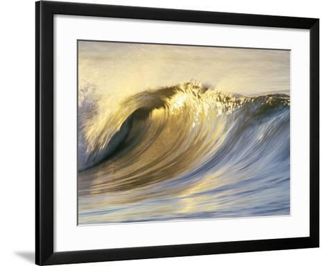 Ocean Wave Breaking-David Pu'u-Framed Art Print