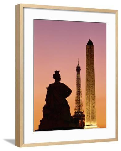 Obelisk of Luxor and Eiffel Tower-Marco Cristofori-Framed Art Print