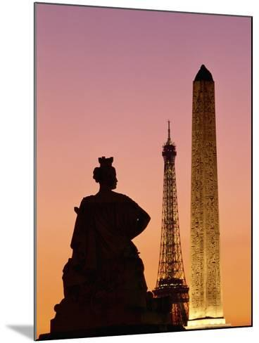 Obelisk of Luxor and Eiffel Tower-Marco Cristofori-Mounted Photographic Print