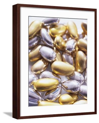 Gold and Silver Sugared Almonds-Michelle Garrett-Framed Art Print