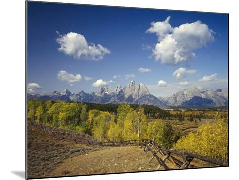 Fence Bordering Ranch Near the Teton Range-Craig Tuttle-Mounted Photographic Print