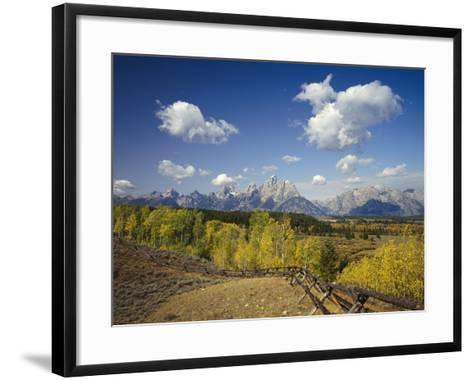 Fence Bordering Ranch Near the Teton Range-Craig Tuttle-Framed Art Print
