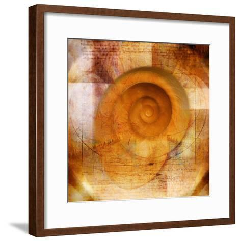 Snail Shell and Handwriting-Colin Anderson-Framed Art Print