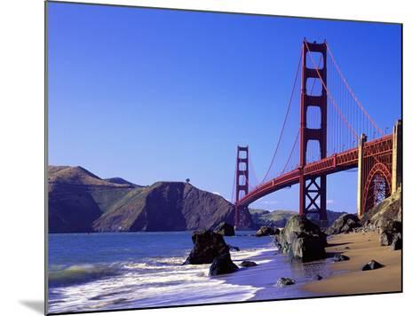 Beach and Golden Gate Bridge-William Manning-Mounted Photographic Print