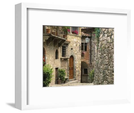 Tuscan Stone Houses-William Manning-Framed Art Print