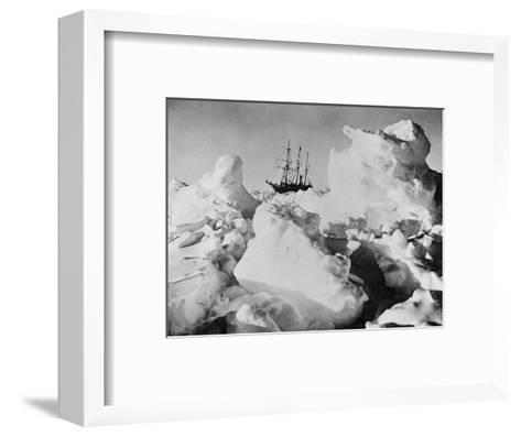 Ernest Shackleton's Ship Endurance Trapped in Ice-Bettmann-Framed Art Print