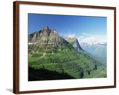 Glaciated Mountain Peaks and Valley-Neil Rabinowitz-Framed Art Print