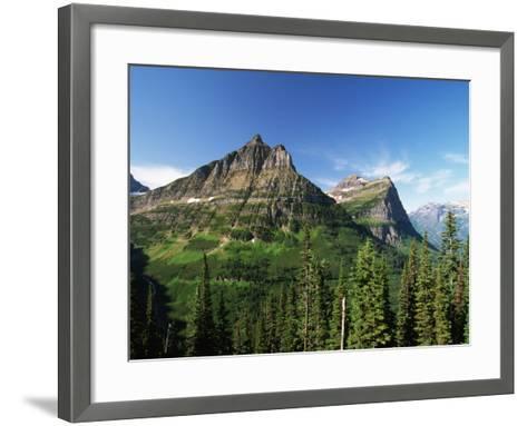 Glaciated Mountain Peaks-Neil Rabinowitz-Framed Art Print