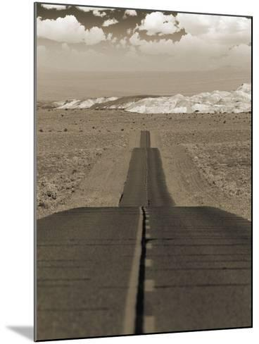 Highway Cutting Through a Desert--Mounted Photographic Print