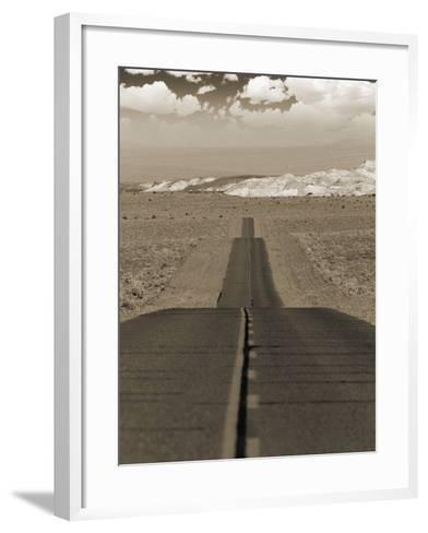 Highway Cutting Through a Desert--Framed Art Print