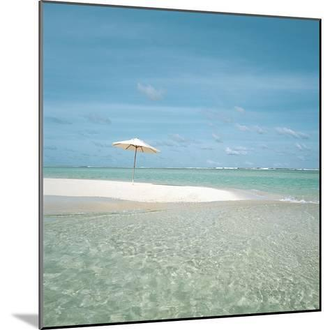 Surf and Sandy Beach--Mounted Photographic Print