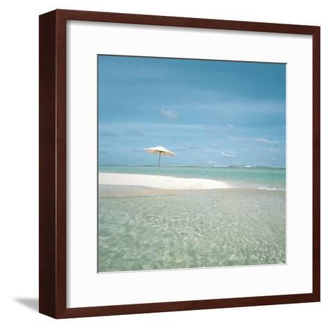 Surf and Sandy Beach--Framed Art Print