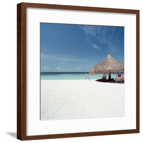 Cabana at the Beach--Framed Art Print