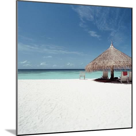 Cabana at the Beach--Mounted Photographic Print