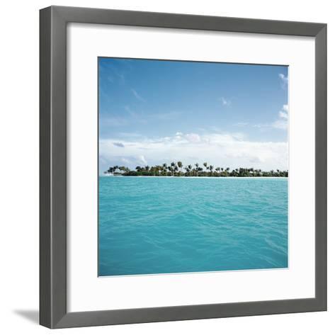 Shallow Water Near Tropical Island--Framed Art Print