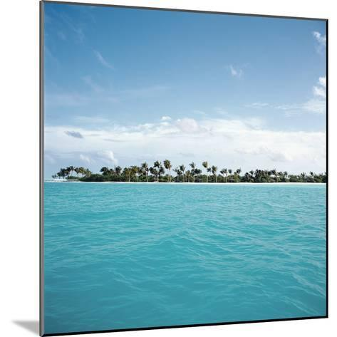 Shallow Water Near Tropical Island--Mounted Photographic Print