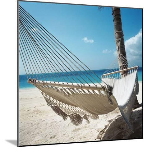 Hammock on a Beach--Mounted Photographic Print