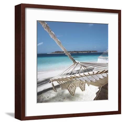 Hammock on a Beach--Framed Art Print