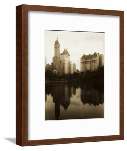 View of the Plaza Hotel, the Savoy Hotel and the Sherry-Netherland Hotel Reflected in the Water--Framed Art Print