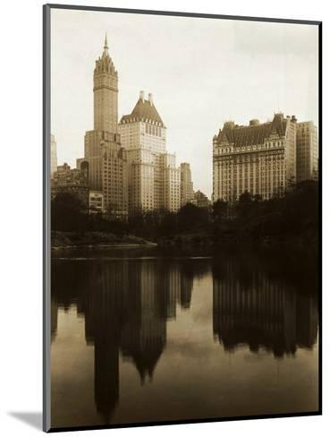 View of the Plaza Hotel, the Savoy Hotel and the Sherry-Netherland Hotel Reflected in the Water--Mounted Photographic Print
