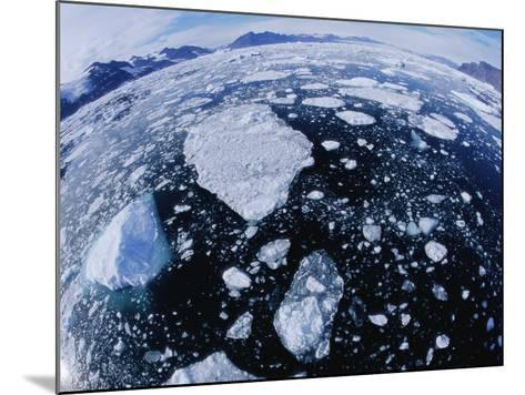 Ice in Nansen Fjord-Nevada Wier-Mounted Photographic Print