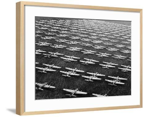 Hundreds of B-29 Flying Fortresses Await Scrap Heap-Bettmann-Framed Art Print