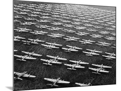 Hundreds of B-29 Flying Fortresses Await Scrap Heap-Bettmann-Mounted Photographic Print