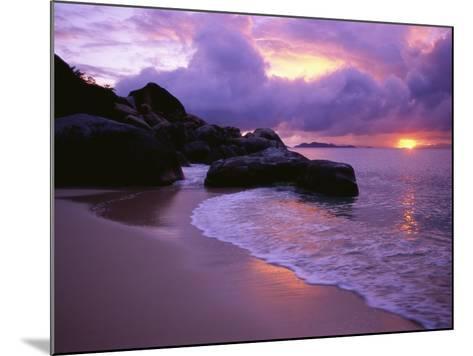 The Baths in Virgin Islands-Nik Wheeler-Mounted Photographic Print