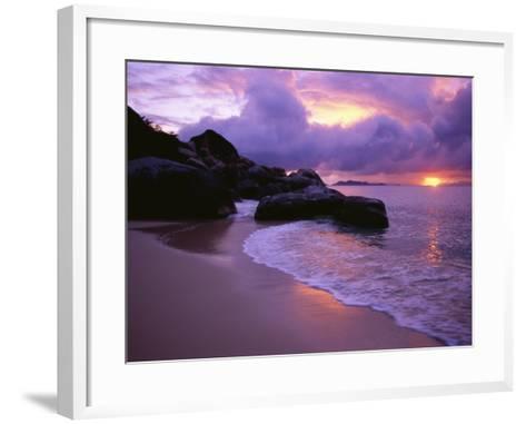 The Baths in Virgin Islands-Nik Wheeler-Framed Art Print