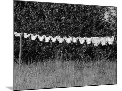 Underwear Hanging to Dry-Owen Franken-Mounted Photographic Print