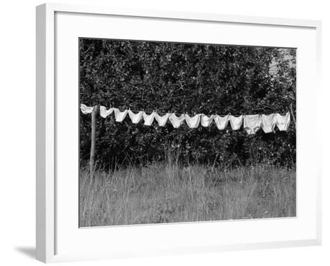 Underwear Hanging to Dry-Owen Franken-Framed Art Print