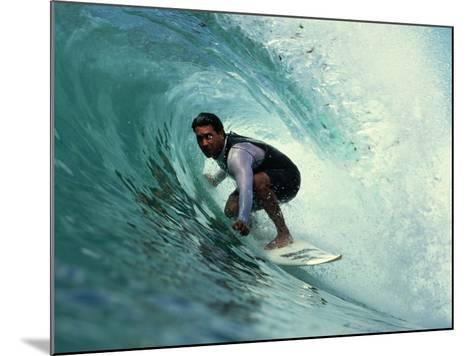 Professional Surfer Riding a Wave-Rick Doyle-Mounted Photographic Print