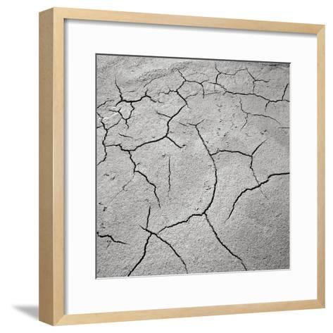Cracked Desert Mud--Framed Art Print