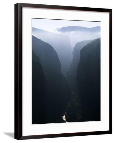 Verdon Canyon Through the Mist-Christophe Boisvieux-Framed Art Print