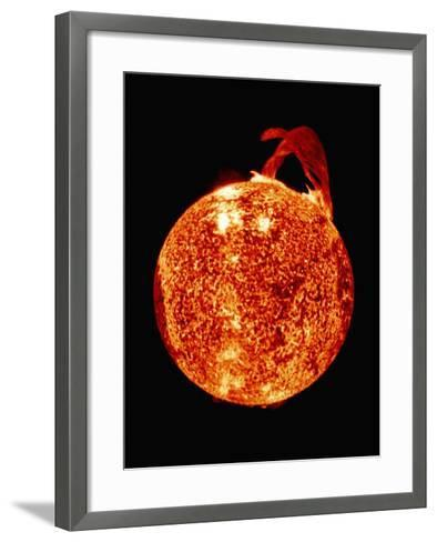 Solar Prominence on Limb of Sun--Framed Art Print