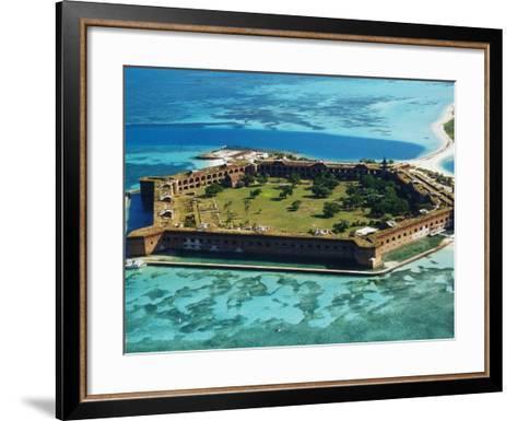 Aerial View of Fort Jefferson-Bob Krist-Framed Art Print
