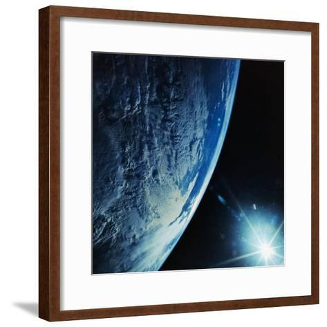 Florida Peninsula from Discovery--Framed Art Print