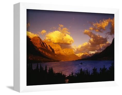 Sunrise over St. Mary Lake-Darrell Gulin-Framed Art Print