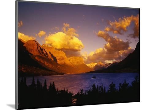 Sunrise over St. Mary Lake-Darrell Gulin-Mounted Photographic Print