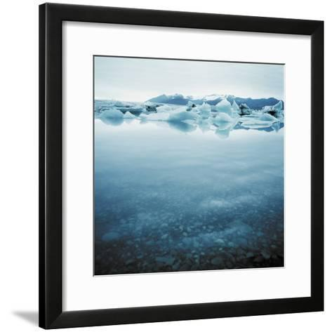 Bergy Bits Near Pack Ice--Framed Art Print