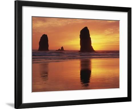 Sea Stacks at Cannon Beach-Darrell Gulin-Framed Art Print