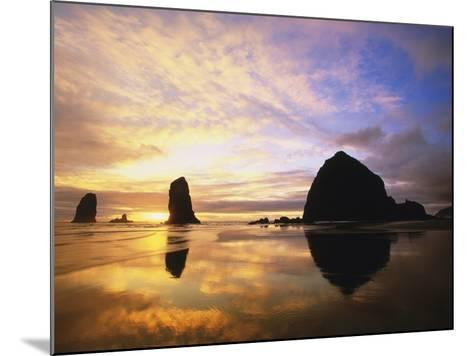 Sea Stacks at Cannon Beach-Darrell Gulin-Mounted Photographic Print